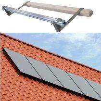 Saules kolektoru stiprinājumi slīpam dakstiņu jumtam