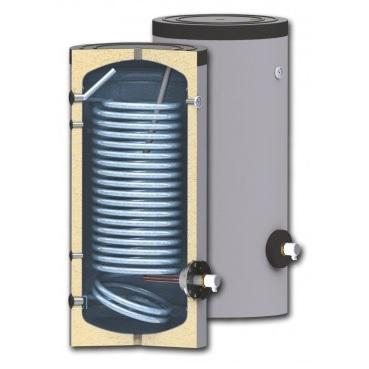 Karsta udens boileris SUNSYSTEM SWP N ar lielo siltummaini (siltumsukniem), 150L - 500L