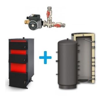 Komplekts ar malkas katlu GALMET 10-20 kW, 500-1000 L + LADDOMAT