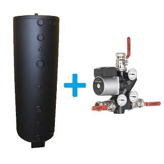 Комплект с теплоаккумулятором Mindreks 720-1100 L и модулем загрузки Laddomat 21-60