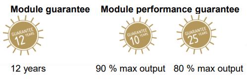 Saules baterijas SOLET garantija