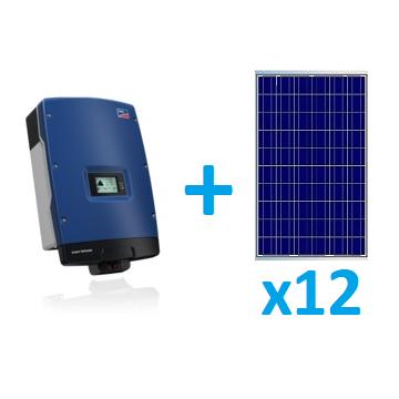 Saules bateriju komplekti ON GRID 12 paneli